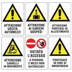 """Segnaletica Adesiva /""""Ufficio/"""" sfondo Rosso 4x15 cm Cartello Segnaletico"""