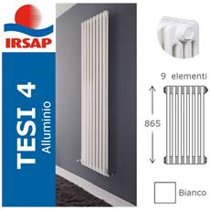 IRSAP - Radiatore Tesi Alluminio, Batteria 865/4, 9 Elementi, Bianco ...