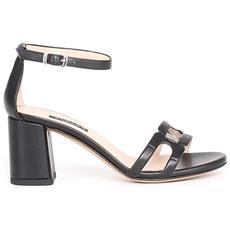 Scarpe Sandalo Sandali Donna Albano 2015 Nero Pelle Soft Pe 2019 Nuovo Originale Taglia 38 Colore Nero