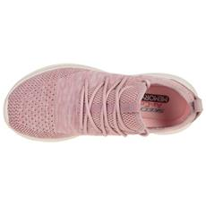 Sneakers Skechers Ultra Flex windsong Donna Rosa Tomaia In Mesh Chiusura In Pizzo