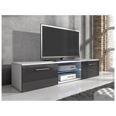 Mobile TV Comodino per TV AVA E-Com 140 cm Bianco