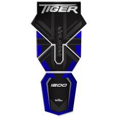 Adesivi 3d Protezione Paramani Per Triumph Tiger Explorer 1200-2011-2015 Metal Blu
