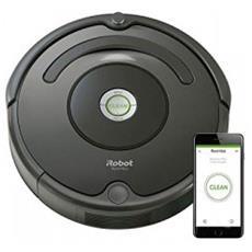 Robot Aspirapolvere Wifi Roomba 676 Colore Grigio Antracite