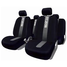 Beige Berlina//SUV//Pickup Truck//Van Black Panther 1 Paio Coprisedili Universale Auto Anteriori Compatibili con Il 95/% di Automobili
