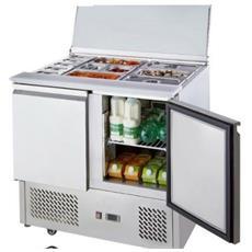Gaggioli Tavolo Frigo Saladette Refrigerato Acciaio Inox 2 Porte Porta Bacinelle Cm 90x70x85h Eprice