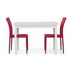 Estea Mobili Tavolo Legno 110x70 Moderno Allungabile Bianco Frassinato Salotto Cucina Temp Eprice
