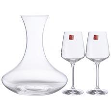Set 6 CALICI in Vetro per Vino Rosso Serie VIGNOBLE Casa Collection