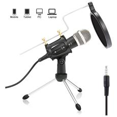 Host Bindpo Microfono lavalier Microfono ergonomico a condensatore con Risvolto Microfono Wireless per Cuffie per teatro Professionale U12B