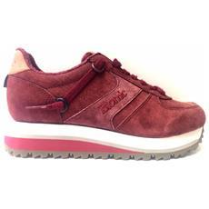 Scarpe Sneakers Donna Etonic New Yorkk Bordeaux Pelle Originale Ai New Taglia 37 Colore Rosso