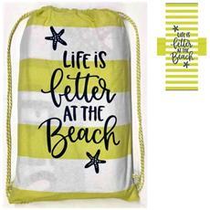 Teli Per Lettini Da Spiaggia.Seamar Telo Mare Fouta Per Lettino Nikky Cotone 75x195 Rigato Pon Pon E Tasche Laterali Colore Lime Eprice