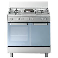 TECNOGAS - D881XS Cucina a Gas 4 Zone Cottura + 1 Piastra Elettrica ...