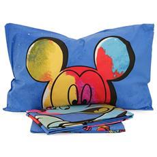Copripiumino Matrimoniale Walt Disney.Walt Disney Completo Copripiumino Topolino Color Disney Caleffi