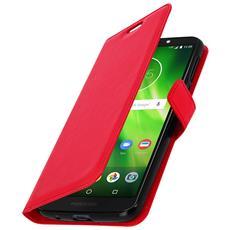 Custodia Stand con Doppia Finestra Oro per Motorola Moto G6 Play -