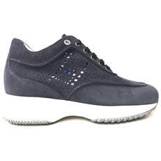 Scarpe Sneakers Donna Hogan Originale Hxw00n0y090gba Interactive Pelle Pe New Taglia 35 Colore Blu