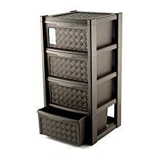 Cassettiera Di Plastica Con Ruote.Tontarelli Cassettiera In Plastica 4 Cassett 39x39xh 82 Cm