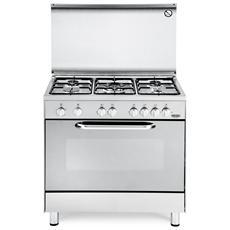 DE LONGHI - Cucina a Gas DGX 855 5 Fuochi Forno a Gas Dimensioni 80 ...
