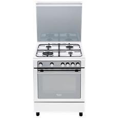 HOTPOINT - Cucina a Gas CG65SG1 (W) IT / HA H 4 Fuochi a Gas Forno a ...