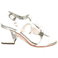 c4290bf573612 APE PAZZA - Scarpe Donna Apepazza Sandalo Mod. Paulette Tc 75 Pelle Bianco    Silver Ds18ap12 - ePRICE