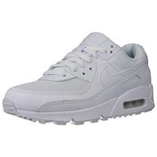 Air Max 90 Women's Shoe, Scarpe Da Corsa Donna, Bianco / bianco-bianco-wolf Grigio, 40.5 Eu