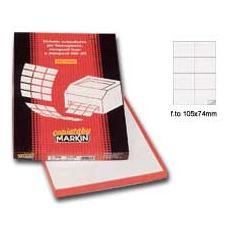 8 etichette x foglio Etichetta adesiva bianca 100fg A4 105x72mm