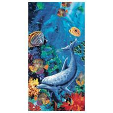 Telo mare spugna salviettone delfino mare piscina spiaggia