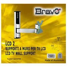 Supporti Porta Tv Lcd.Bravo Supporto Alluminio 15 30 2 Snodi Black Eprice
