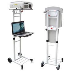 KIMEX 054-1003 Carrello universale per proiettore e laptop Altezza regolabile da 53 a 89 cm.