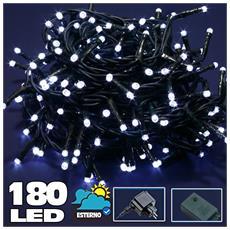 Bakaji Catena Luminosa 300 Luci LED Lucciole Bianco Naturale con Controller 8 Funzioni per uso Interno ed Esterno