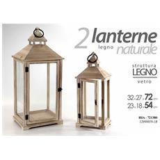 Lanterne Bianche Da Esterno.Argonauta Coppia Lanterne Legno Naturale E Vetro Casa Giardino