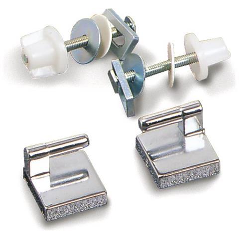 Paracolpi rettangolari per sedili wc Paracolpi rettangolari mm.47x18 2 perni con due perni altezza mm.10 mm.47x18 Numero pezzi per confezione 4