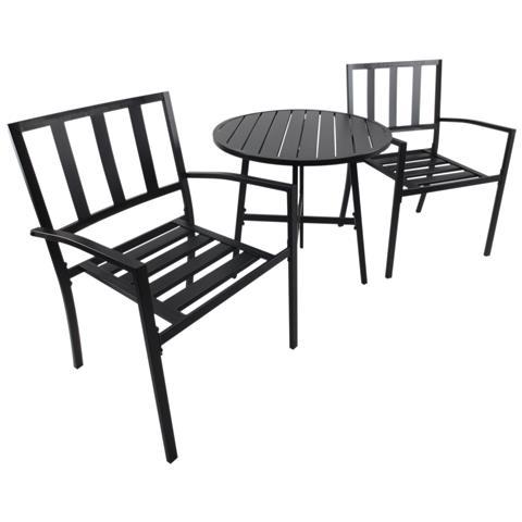 Set da giardino con tavolino e sedie Ios