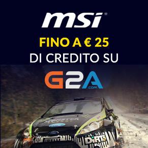 MSI Fino a 25€ di credito su G2A