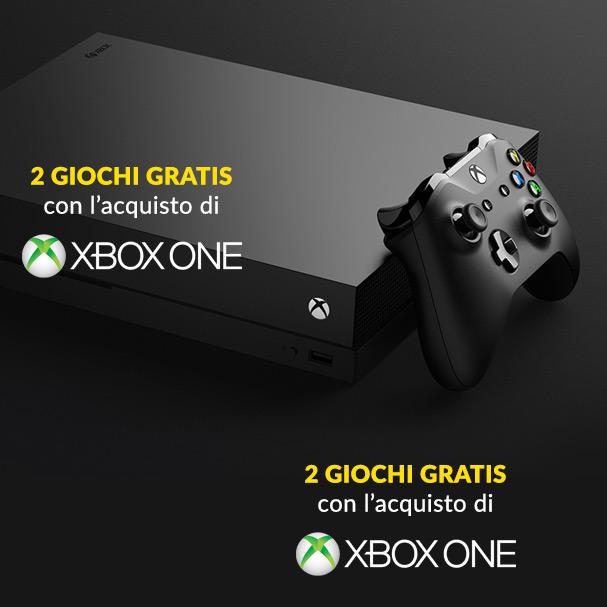 Acquista Xbox One e avrai 2 Giochi Gratis
