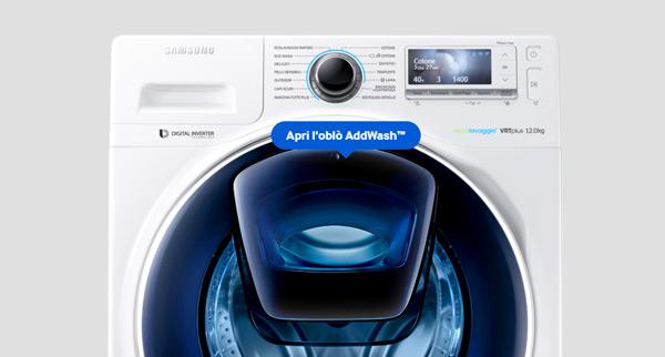 Samsung Lavatrice Standard Ww80k4430yw Addwash 8 Kg Classe A Centrifuga 1400 Giri