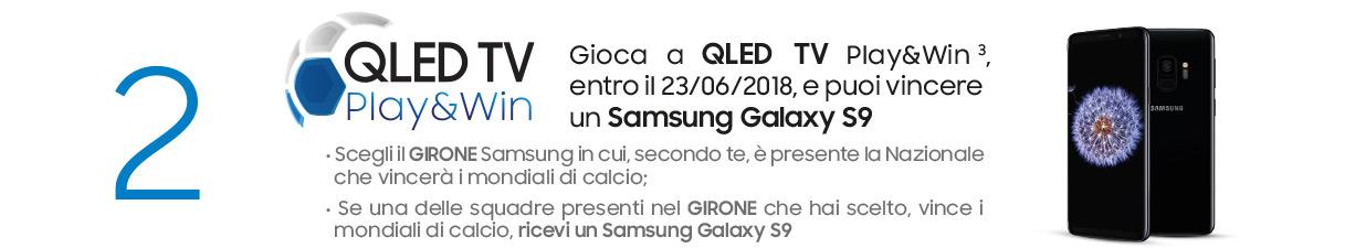 Samsung QLED TV vinci Samsung Galaxy S9