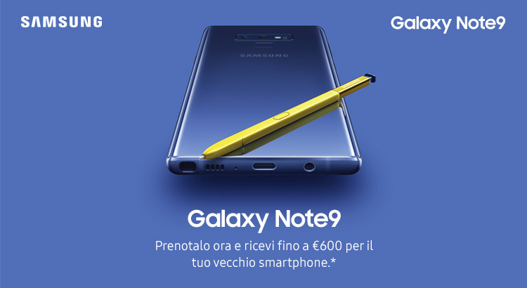 Samsung Galaxy Note 9 Preorder