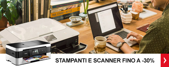 <strong>Stampanti e Scanner</strong> <br/>Fino a -30%