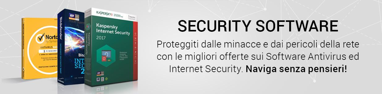 Security Software. Proteggiti dalle minacce e dai pericoli della rete con le migliori offerte sui software antivirus e Internet Security. Naviga senza pensieri.