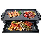 Superficie di cottura 37x23cm 1400W H.Koenig RP328 Rclette e Piastra di cottura in granito//Grill