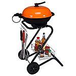 R.G.V. - Grill Barbecue Elettrico. Colore Arancione