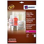 AVERY - Etichette Glossy trasparenti 60 mm confezione da...