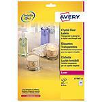 AVERY - Etichette Lucide Invisibili 40 mm Confezione 25...