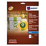 AVERY - Etichette rotonde Glossy bianche A4