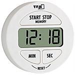 TFA - Timer Elettronico e Cronometro Bianco LR44...