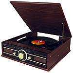 SOUNDMASTER - Giradischi PL550BR 33/45/78 Giri Radio FM Ingresso...