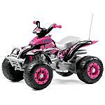 PEG PEREGO - Moto Quad Corral-T-Rex - Rosa 12 Volt