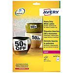 AVERY - Etichette poliestere bianco e argento Laser da...
