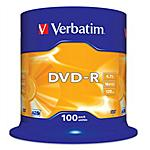 VERBATIM - DVD-R 16x Adv AZO 4,7GB Spindle 100 pz