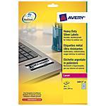 AVERY - Etichette poliestere bianco e argento Laser 210 x...