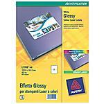 AVERY - conf. 40 fogli. Etichette glossy stamp Laser...